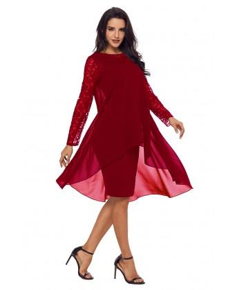 فستان دانتيل متعدد الطبقات