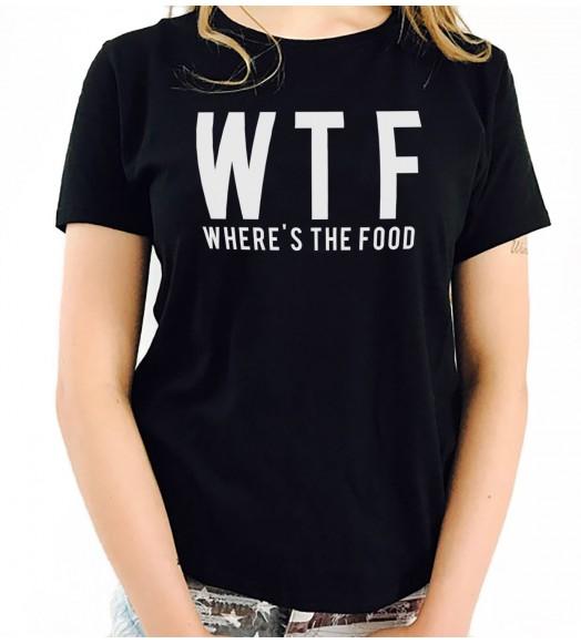 تيشرت اسود بناتي WTF where is the food