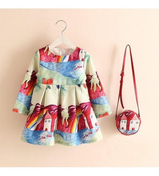 فستان مع حقيبة