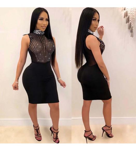 فستان كات شولدر كرستال