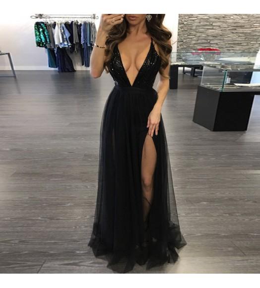 فستان طويل ترتر