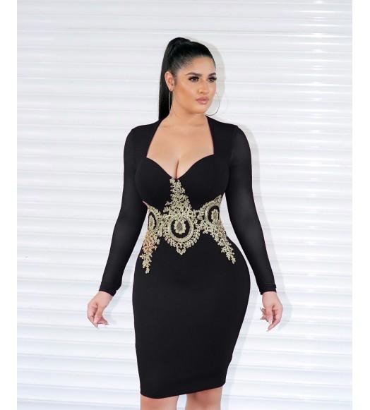 فستان تطريز