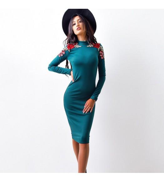 فستان بنسل تطريز