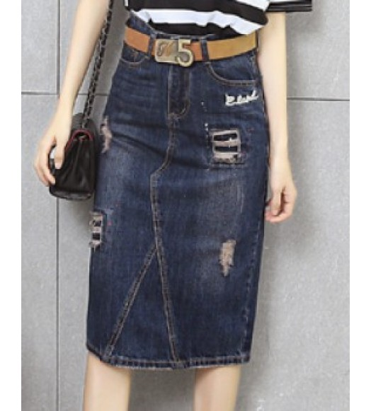 تنورة  جينز +  حزام