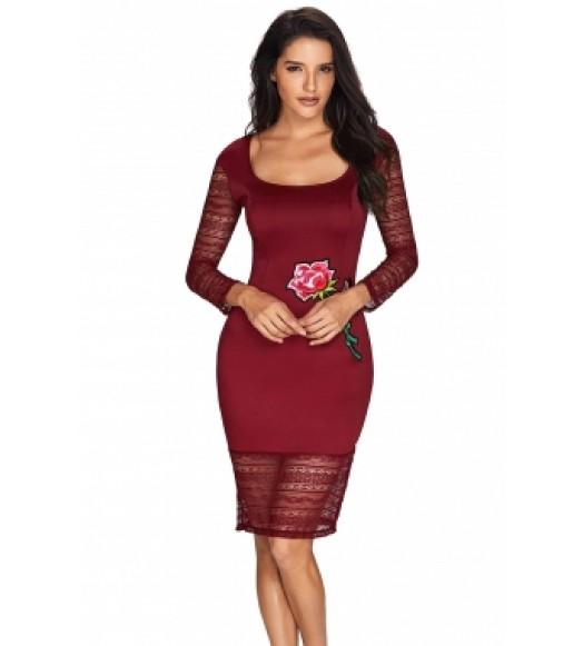 فستان دانتيل تطريز