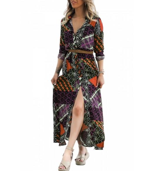 فستان طويل اندرلا + حزام