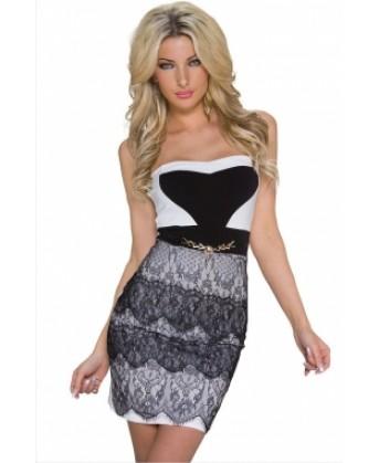 فستان مزين بالدانتيل