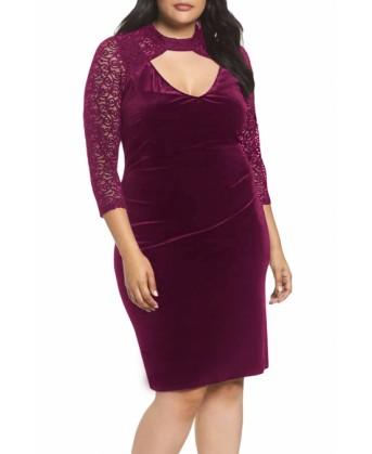 فستان بلس سايز مخملي